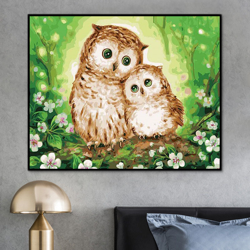 Owl Paint By Numbers Kits UK In Store PH9318