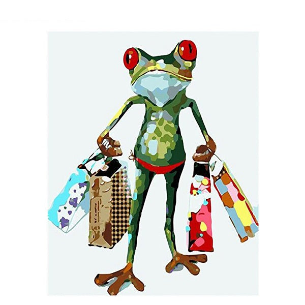 Animal Frog Paint By Numbers Kits UK For Beginners PH9319