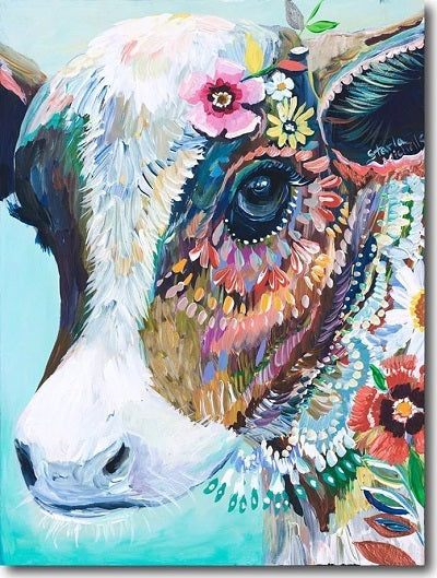 Animal Cow Paint By Numbers Kits UK For Adult PH9480