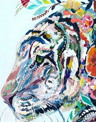 Animal Tiger Paint By Numbers Kits UK For Adult PH9481