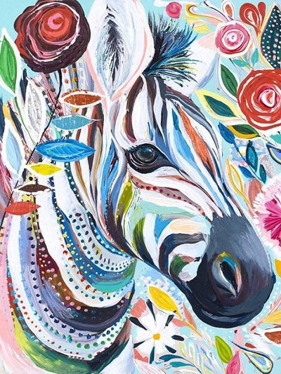 Animal Zebra Paint By Numbers Kits UK For Adult PH9482