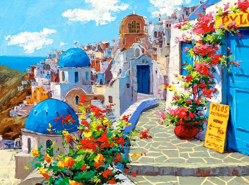 Landscape Greece Santorini Paint By Numbers Kits UK RA3424