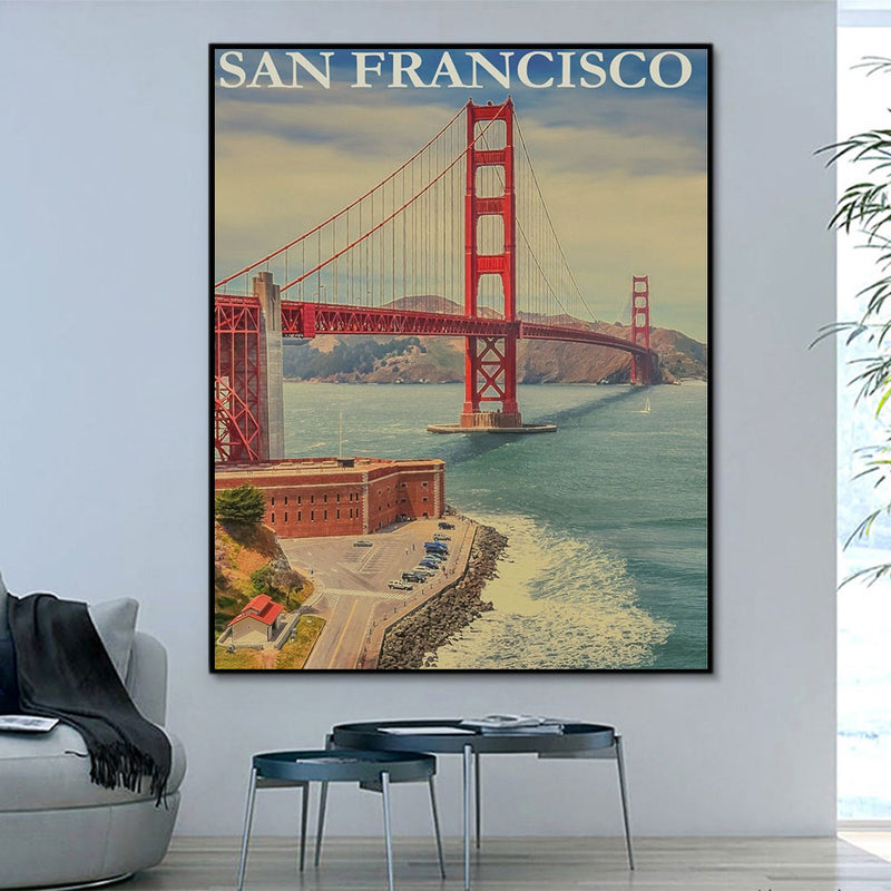 Landscape San Francisco Paint By Numbers Kits UK With Frame HQD1224