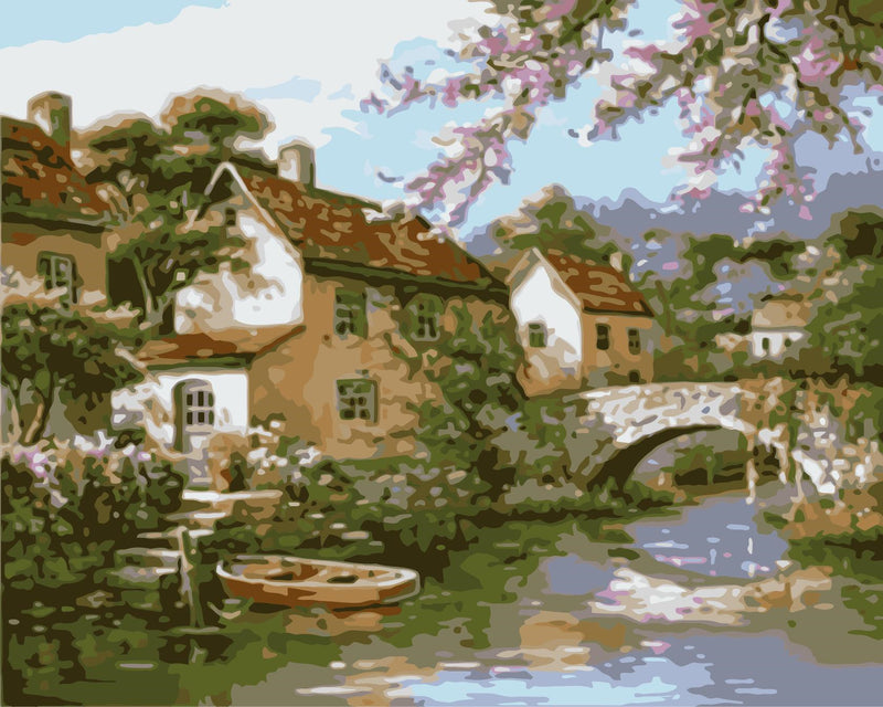 Landscape Paint By Numbers Kits UK For Adult WM-1153