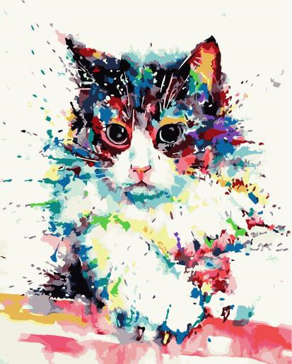 Cat & Dog Paint By Numbers Kits UK For Adult WM-1495