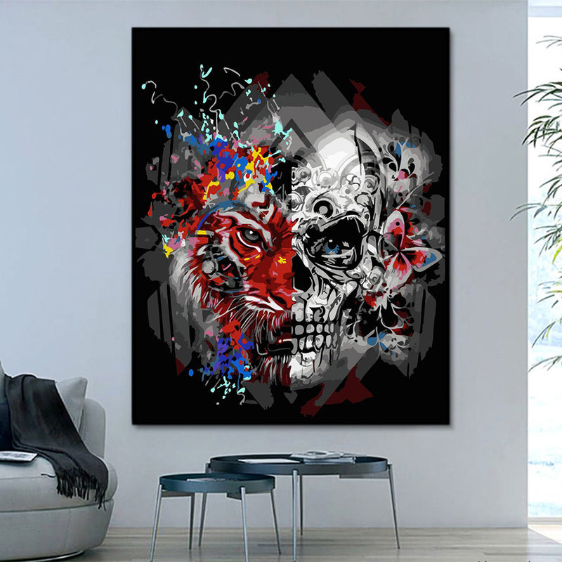 Pattern Skull Masterpiece Paint By Numbers HQD1343