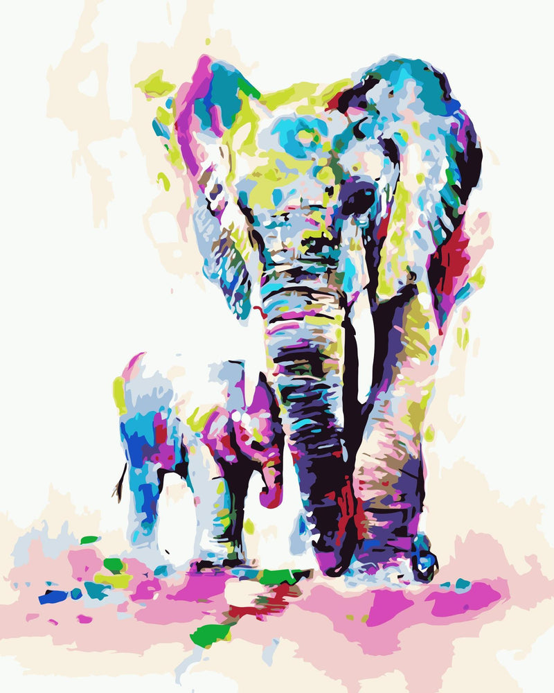 Elephant Paint By Numbers Kits UK For Adult HQD1349