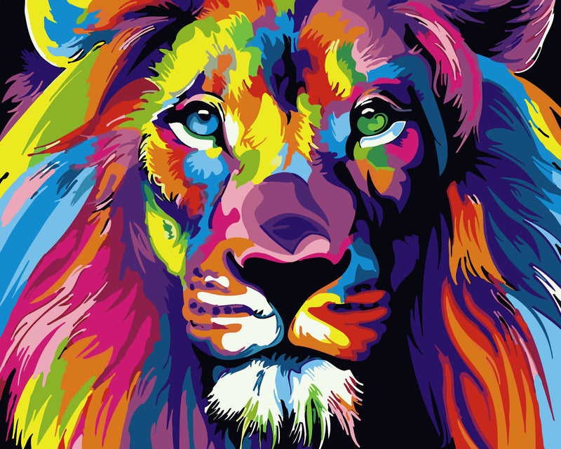 Lion Paint By Numbers Kits UK For Adult HQD1348