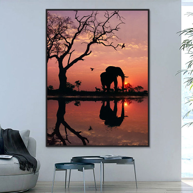 Animal Elephant Paint By Numbers Kits UK For Adult Y5549