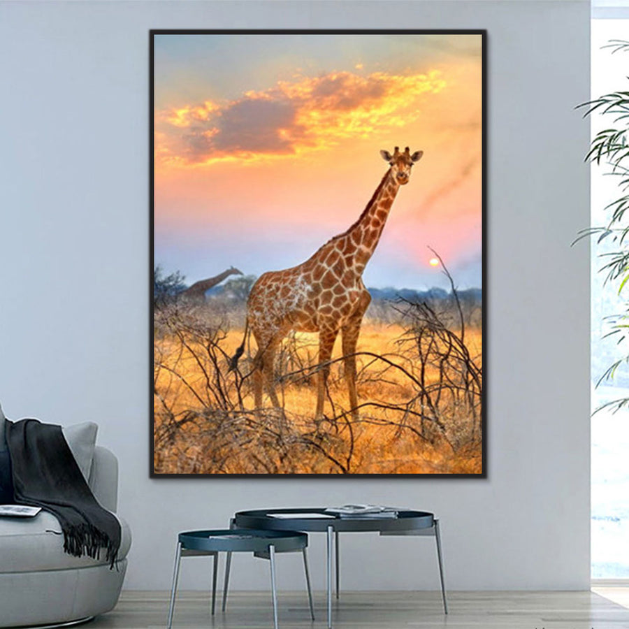 Animal Giraffe Paint By Numbers Kits UK For Adult Y5610 ...