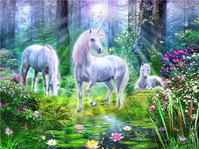 Animal Unicorn Paint By Numbers Kits UK For Adult Y5697