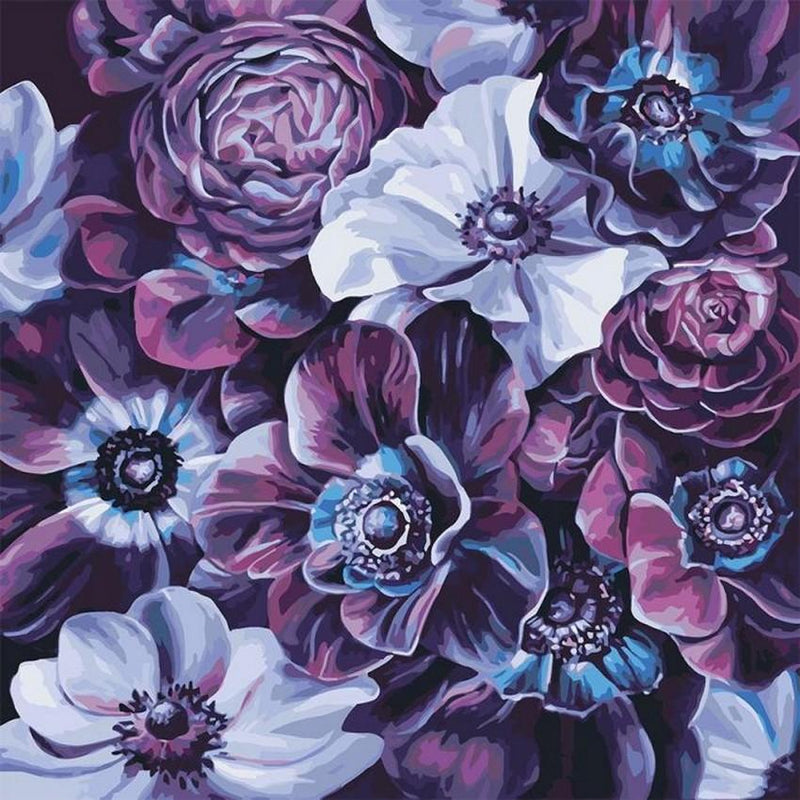 Flower Paint By Numbers Kits UK For Adult vm97011