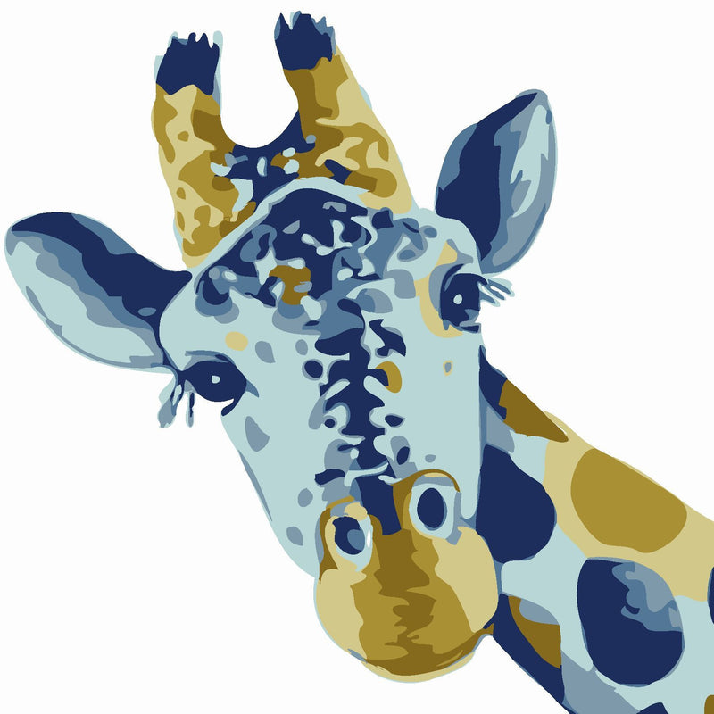 Animal Giraffe Paint By Numbers Kits UK For Beginners HQD1373