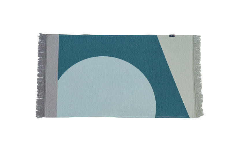 Teal Recycled Cotton throw rug - David Fussenegger