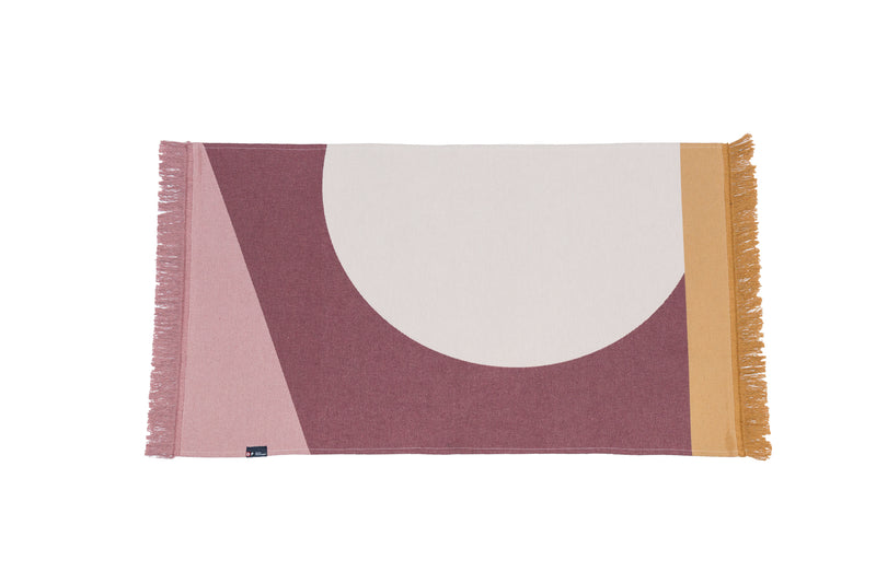 Pink Recycled Cotton throw rug- David Fussenegger