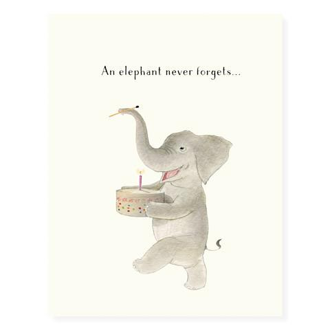 Birthday Card- An Elephant Never Forgets