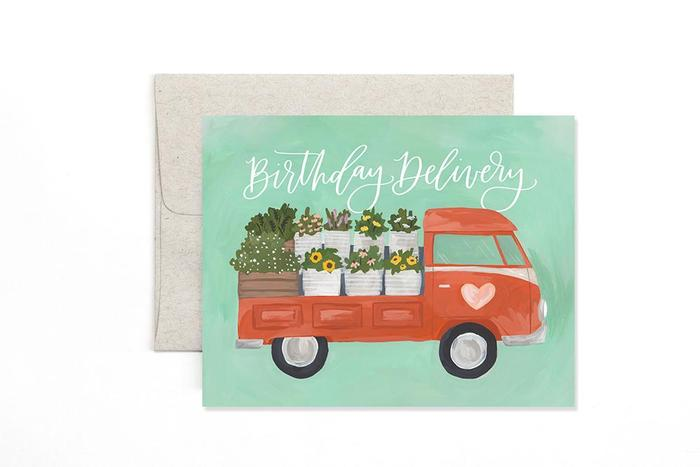 Birthday Card- Flower Truck Delivery