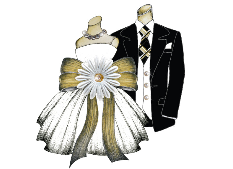 S.E. Hagarman Wedding Card- Wedding Dress & Tux