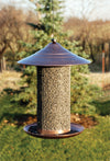 Black Oil Sunflower Feeder - Brushed Copper
