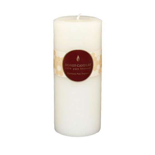 "Honey Candle 7"" Pearl Pillar Beeswax Candle"