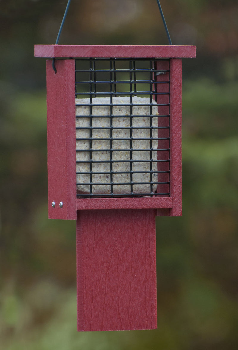Going Green Recycled Plastic Tail-Prop Suet Feeder