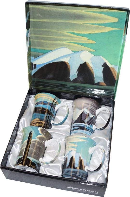 McIntosh 4 Piece Crest Mug Set- Lawren S. Harris