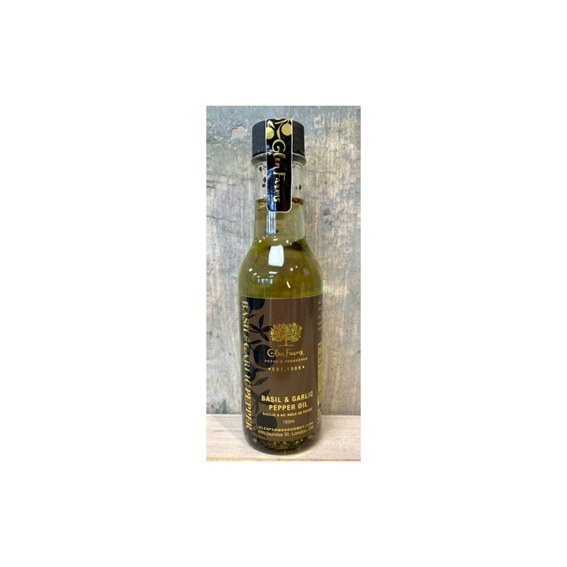 Glen Farms- Basil & Garlic Pepper Oil 150ml