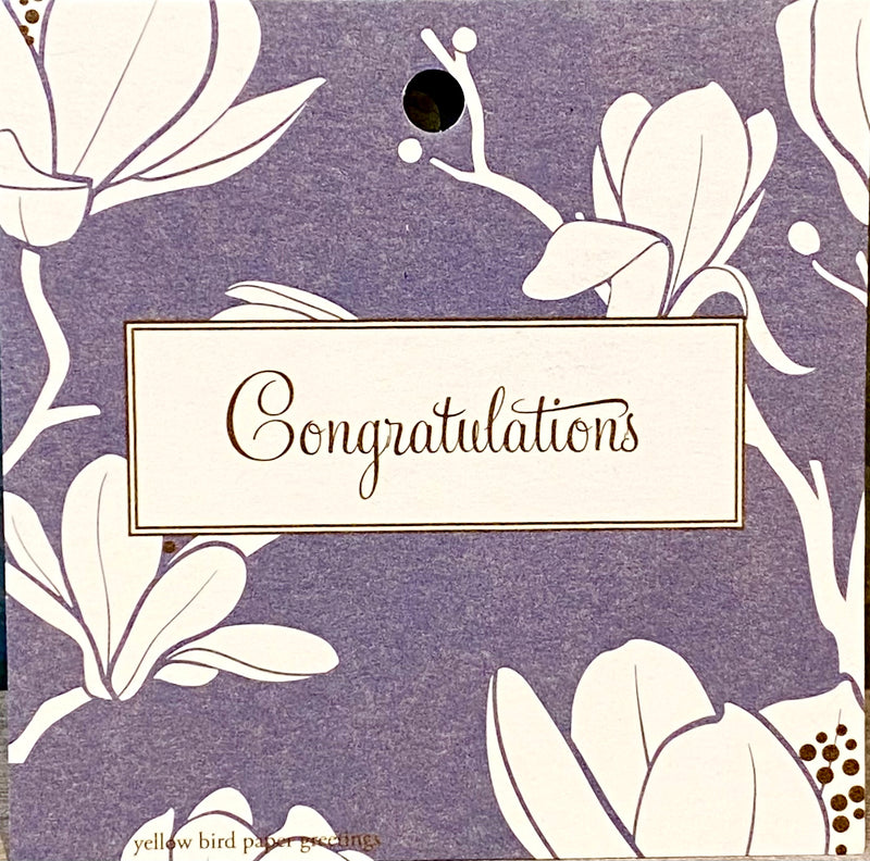 Gift Tage- Congratulations Grey Floral