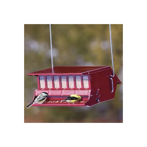 Reflective Red Bird's Choice Squirrel Proof Feeder