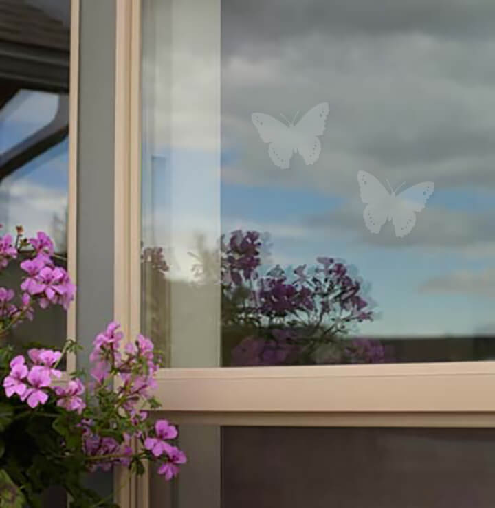 WindowAlert UV decals - Butterfly