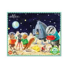 eeBoo 36 Piece Mini Puzzle- On the Moon