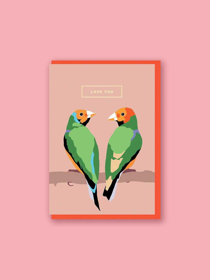 Emily Brooks Anniversary Card- Love You, Love Birds