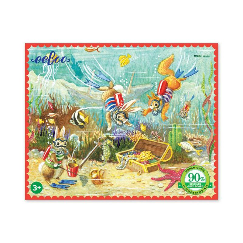 eeBoo 36 Piece Mini Puzzle- Finding Treasure