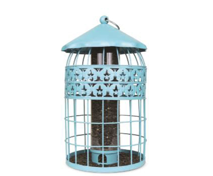 PineBush Decorative Squirrel Resistant Feeder - Robin Egg Blue