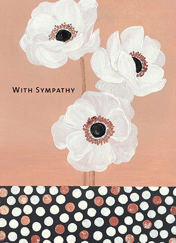 With Sympathy Bronze Anemones Card
