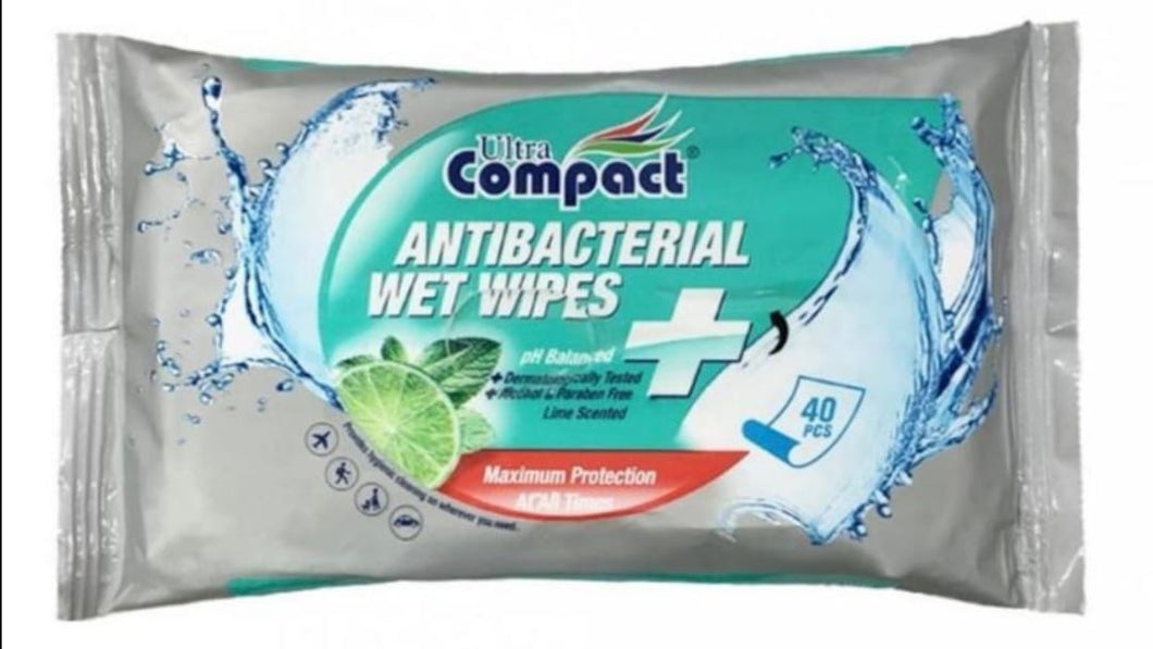 Antibacterial Wipes - 12 Pack Box