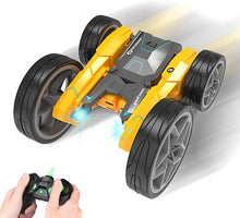 Load image into Gallery viewer, RC AWD Remote Control Stunt Car Toy for Kids, LED Lights, Double Sided Rotating 360° Flips Crawler Vehicle Toy