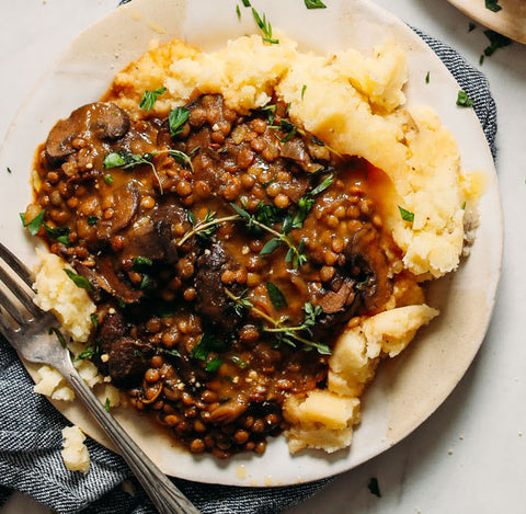 MUSHROOMS AND LENTILS WITH MASHED POTATOES MEAL KIT