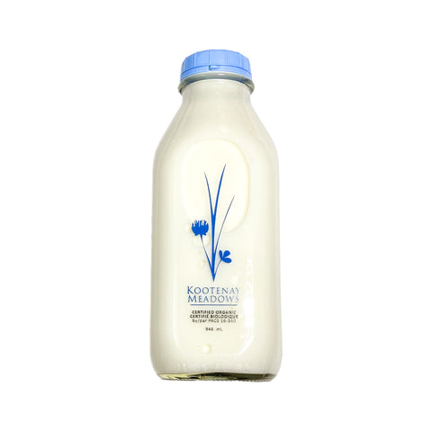 Kootenay Meadows - Organic Partly Skimmed 1% (946ml)