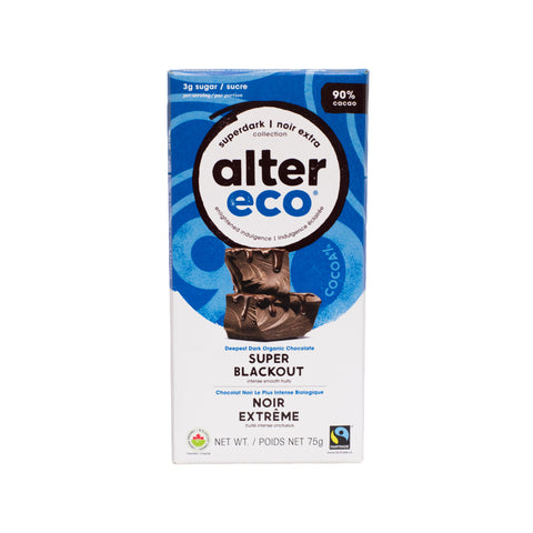 Alter Eco - Dark Chocolate Super Blackout 90%