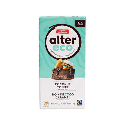 Alter Eco - Dark Chocolate Coconut Toffee 47%