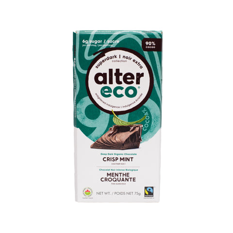 Alter Eco - Dark Chocolate Crisp Mint 90%