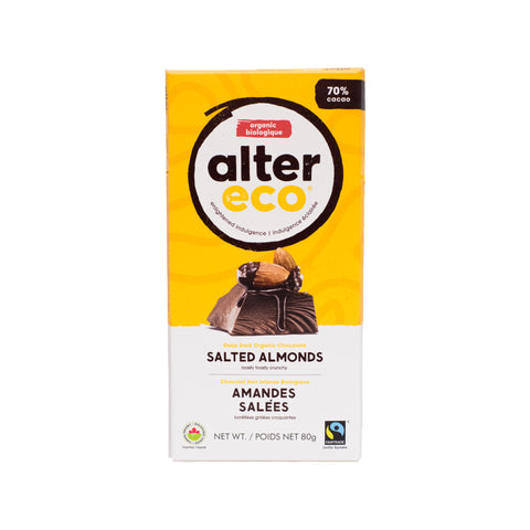 Alter Eco - Dark Chocolate Salted Almonds 70%
