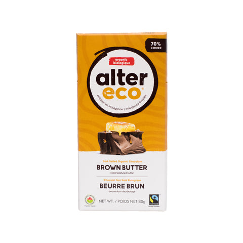 Alter Eco - Dark Chocolate Brown Butter 70%