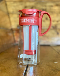 Hario Mizudashi Coffee Pot (Cold Brewer) 600ml - Red - Shoe Lane Coffee