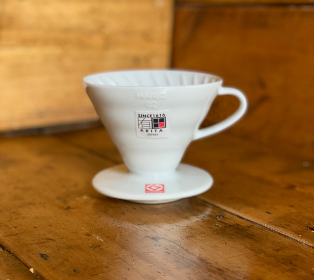 Hario V60 02 Ceramic Coffee Dripper (White) - Shoe Lane Coffee