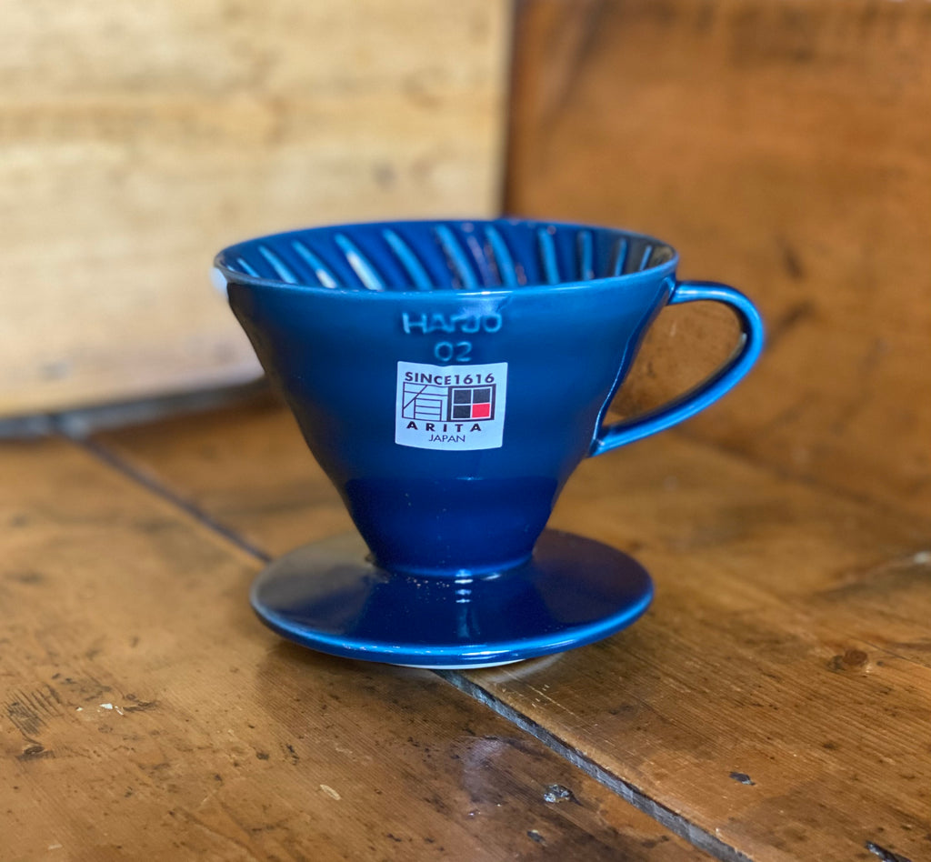 Hario V60 02 Ceramic Coffee Dripper (Indigo blue) - Shoe Lane Coffee