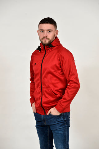 1889 RED LEISURE FULL ZIP TRACK TOP