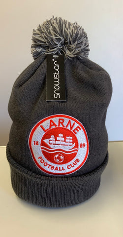 LARNE FC EMBROIDERED GREY BOBBLE