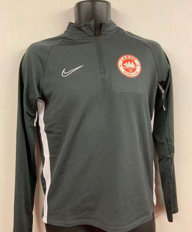 NIKE ACADEMY QUARTER ZIP - GREY - FINAL REDUCTIONS!